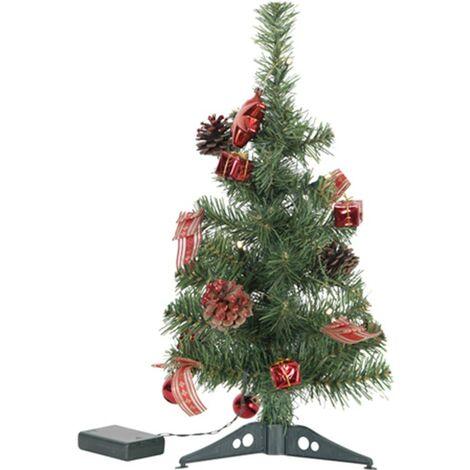 Sapin LED de 45cm décoration rouge