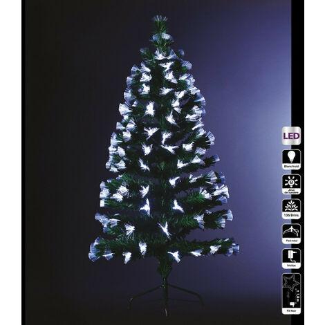 Sapin lumineux 120 cm vert fibre optique - Vert