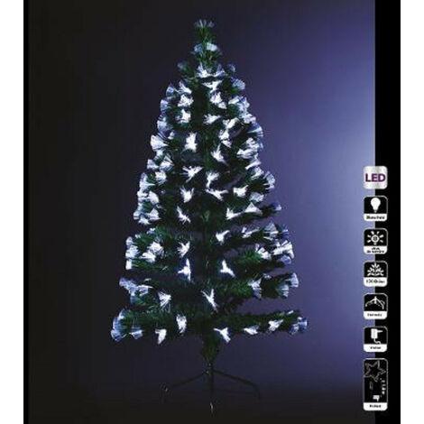 Sapin vert lumineux fibres optique en bouquets 150 cm - Vert