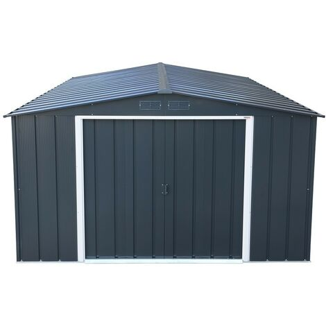 Sapphire 10x10 Metal Apex Garden Shed (various colours)