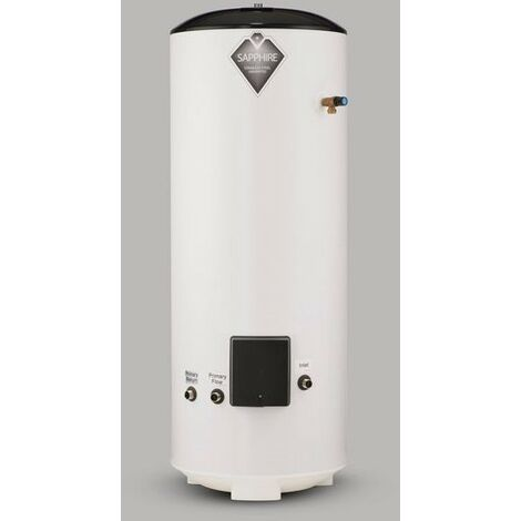 Sapphire 210L Indirect Unvented Hot Water Cylinder Stainless Steel 210 Litre