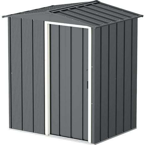 Sapphire 5x4 Metal Apex Garden Shed (various colours)