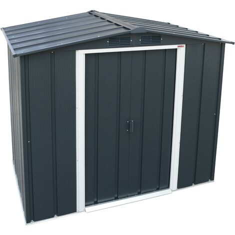 Sapphire 6x4 Metal Apex Garden Shed (various colours)