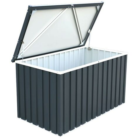 Sapphire Metal Cushion Storage Box 4x2 Grey