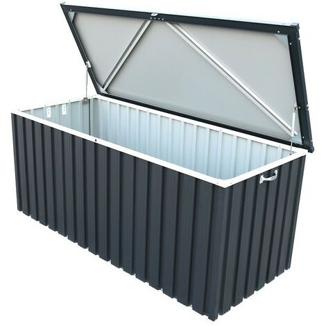 Sapphire Metal Cushion Storage Box 6x2 Grey