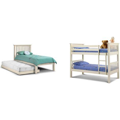 Sara 3ft Single 90 x 190 STONE WHITE Bunk Bed Frame