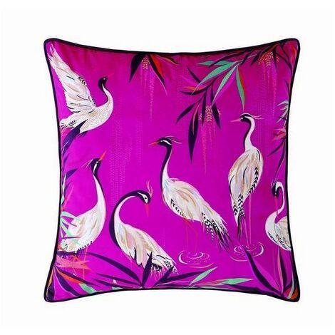 Sara Miller Bedding Heron Pink Filled Cushion 50cm x 50cm