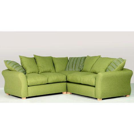 Sarah Corner Sofa Green Fabric