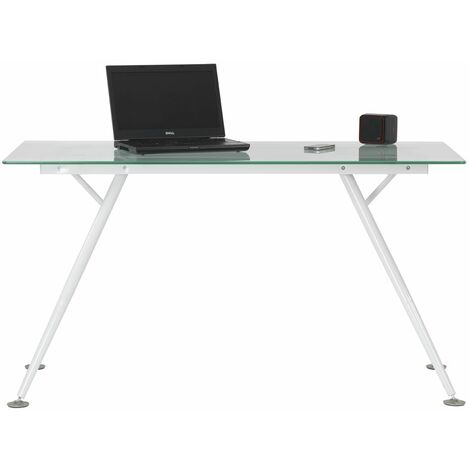 "main image of ""Sarasota Glass Computer Desk White Frame"""