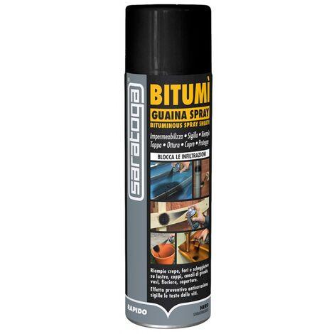 SARATOGA- GUAINA SPRAY BITUMINOSA 500 ML Isolamento bituminoso Bitumì