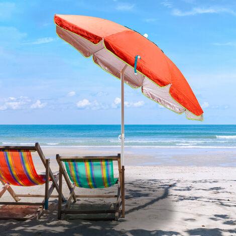 SARDINIA 200cm Vented Beach Umbrella With UPF 158+ UV Protection