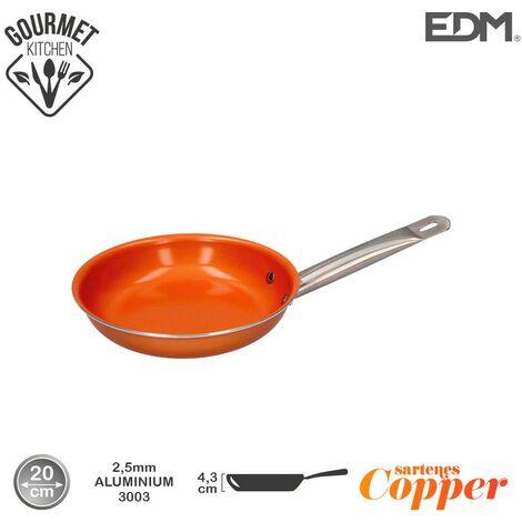 Sarten antiadherente Copper Line excilon tecnology 20cm - Naranja