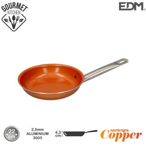 Sarten antiadherente Copper Line excilon tecnology 22cm - Naranja