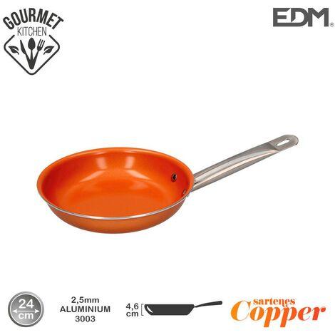 Sarten antiadherente Copper Line excilon tecnology 24cm - Naranja