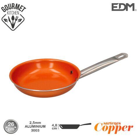 Sarten antiadherente Copper Line excilon tecnology 26cm - Naranja