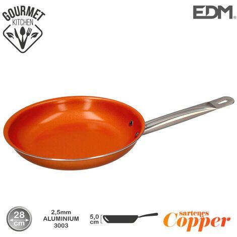 Sarten antiadherente Copper Line excilon tecnology 28cm - Naranja