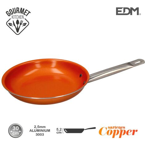 Sarten antiadherente Copper Line excilon tecnology 30cm - Naranja