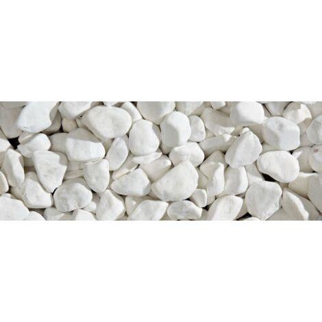 Sassi ciottoli colorati Bianco Thassos 8-16 mm decorazione giardino pietre colorate