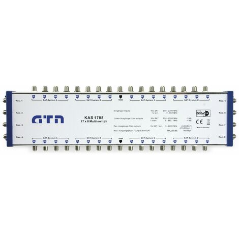 SAT-Multischalter-Kaskade GTN easy KAS 1708, 17/8, DiSEqC 2.0