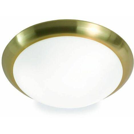 Satin brass ceiling light 2 bulbs