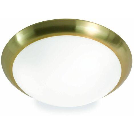 Satin brass ceiling light 3 bulbs