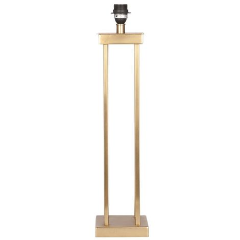 Satin Brass Metal Four Post Table Lamp