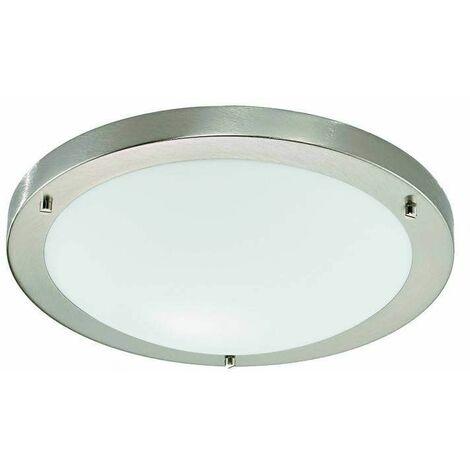 Satin nickel bathroom ceiling light 1 Bulb