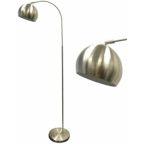 Satin Nickel Curved Dome Floor Lamp