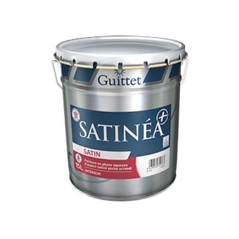 SATINEA+ BLANC 15L - Peinture en phase aqueuse d'aspect satiné poché arrondi - GUITTET