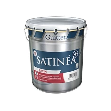 SATINEA+ BLANC 3L - Peinture en phase aqueuse d'aspect satiné poché arrondi - GUITTET