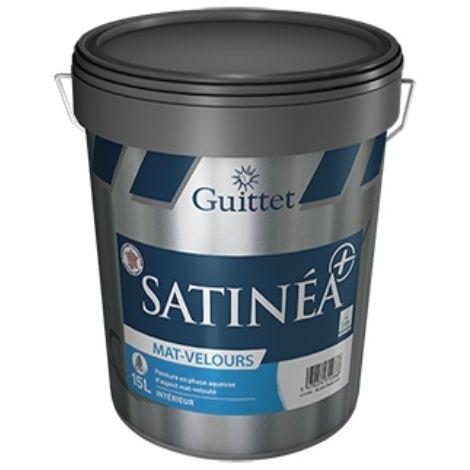 SATINEA+ MAT VELOURS BLANC 15L - Peinture d'aspect mat-velouté en phase aqueuse -GUITTET