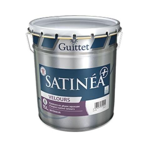 SATINEA+ VELOURS BLANC 15L - Peinture en phase aqueuse d'aspect satiné velours - GUITTET