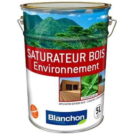 Saturateur Bois Environnement BLANCHON protège et embellit bois extérieurs 5L | NATUREL