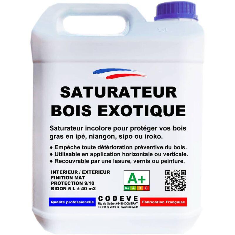 saturateur bois exotique teinte incolore 5 litres 264 43406. Black Bedroom Furniture Sets. Home Design Ideas