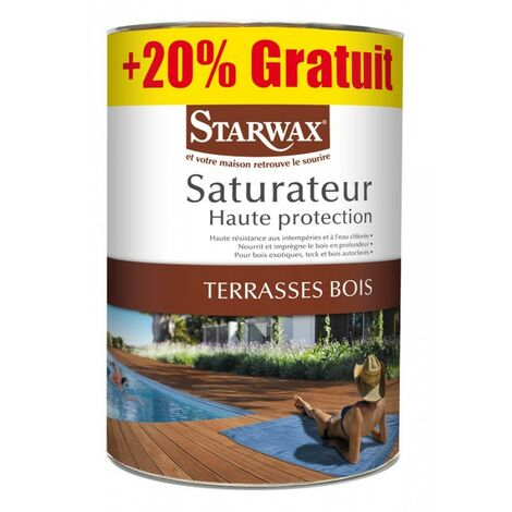 Saturateur haute protection pour terrasses bois 5L+20%