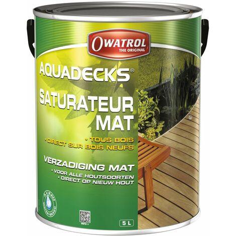 Saturateur mat à l'eau tous bois Aquadecks Owatrol