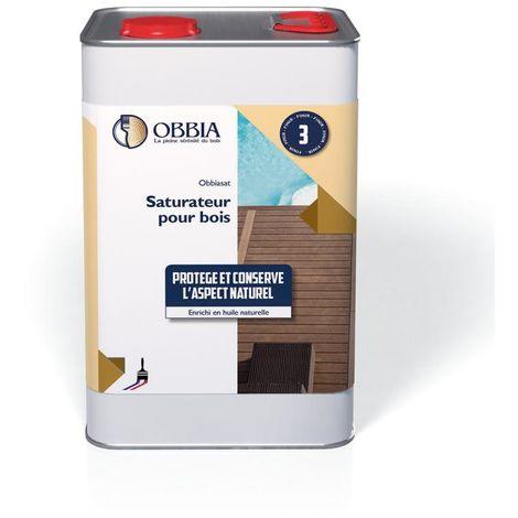 Saturateur OBBIA pour bois - Incolore - Bidon de 5L - OBSAT5