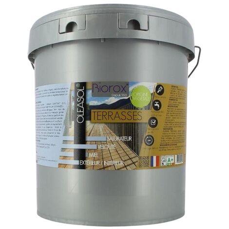 Saturateur pour bois extérieurs origine végétale 2 en 1 terrasses Oleasol 10 litres