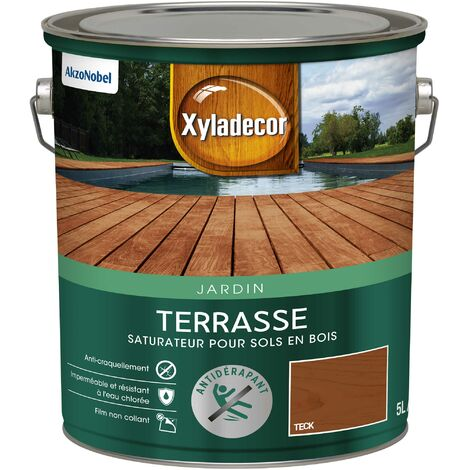 Saturateur Terrasses 5 & 6L Mat - sol extérieur en bois - Xyladecor