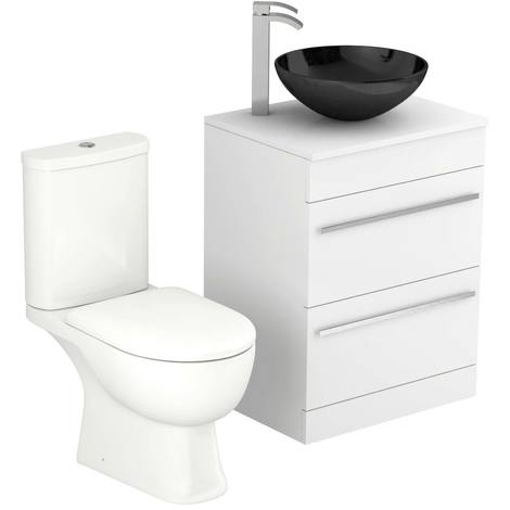 Saturn 600mm Vanity Unit & Toilet Suite