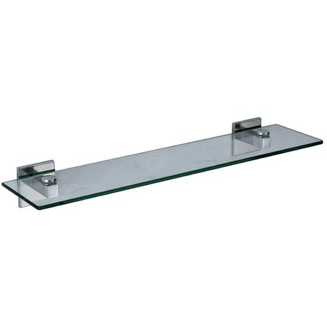 Saturn Chrome Glass Vanity Shelf