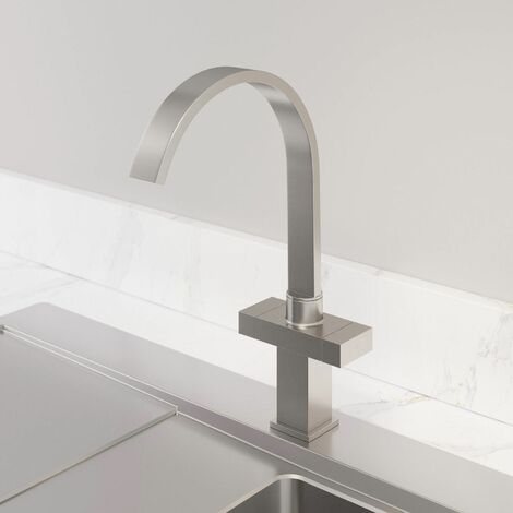 Sauber Aarau Brushed Kitchen Mixer Tap