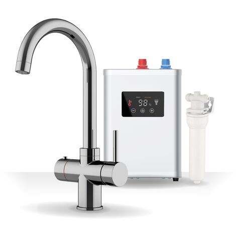 Sauber Boiling Water Kitchen Tap 3 in 1 Hot/Cold Water Filter & Tank