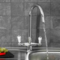 Sauber Burford Chrome Kitchen Mixer Tap
