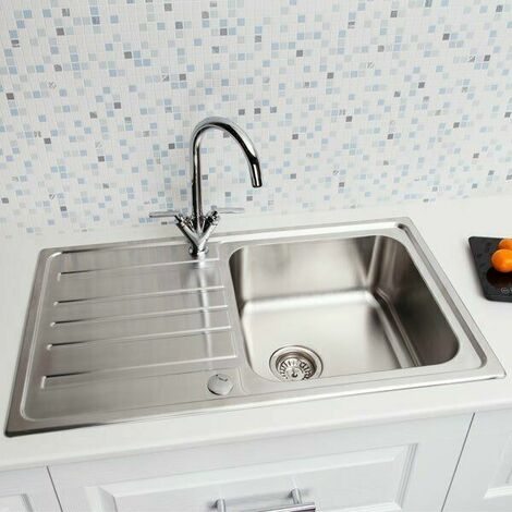 Sauber Inset Stainless Steel Sink - Single Bowl