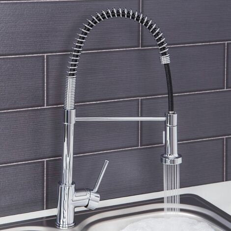 Sauber Kitchen Mixer Tap with Pull Out Spray