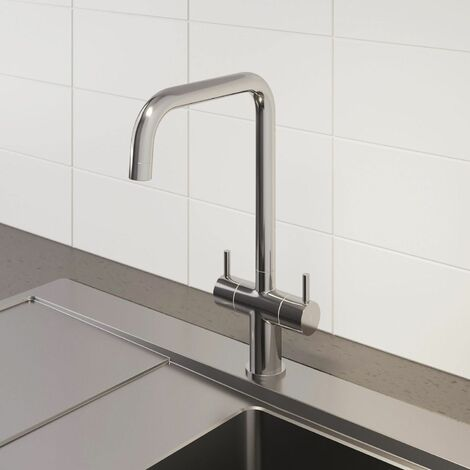 Sauber Lugano Kitchen Mixer Tap Chrome