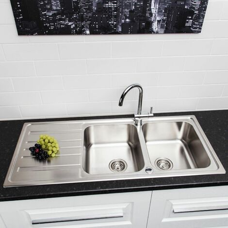 Sauber Prima Inset Stainless Steel Sink - 2 Bowl