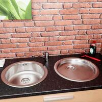 Sauber Round Inset Stainless Steel Sink and Drainer
