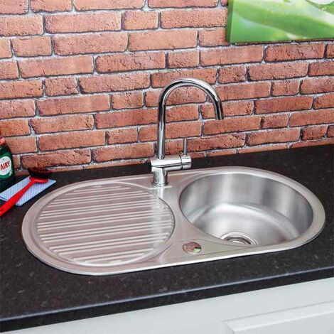 Sauber Round Inset Stainless Steel Sink - Single Bowl